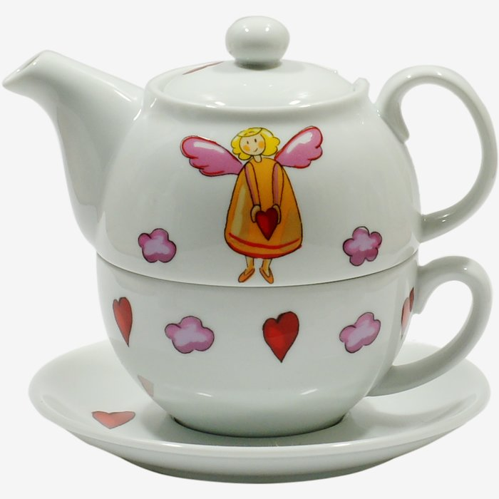 tea for one set engel g nstig kaufen tee whisky. Black Bedroom Furniture Sets. Home Design Ideas